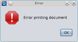 Error Printing Document