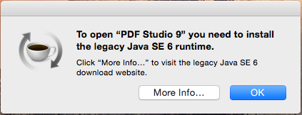 Java 6 studio error message