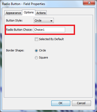 Radio Button Choice