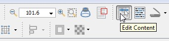 """Edit Content"" Icon on the toolbar"
