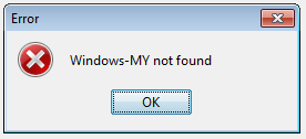 Windows-MY Err