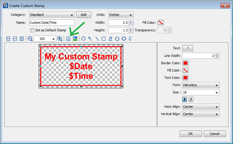 create custom stamp - datetime