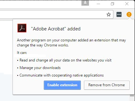 Adobe Chrome Permissions