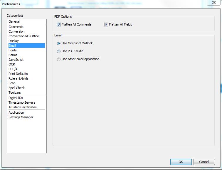 Flatten annotations and form fields when sending a PDF document