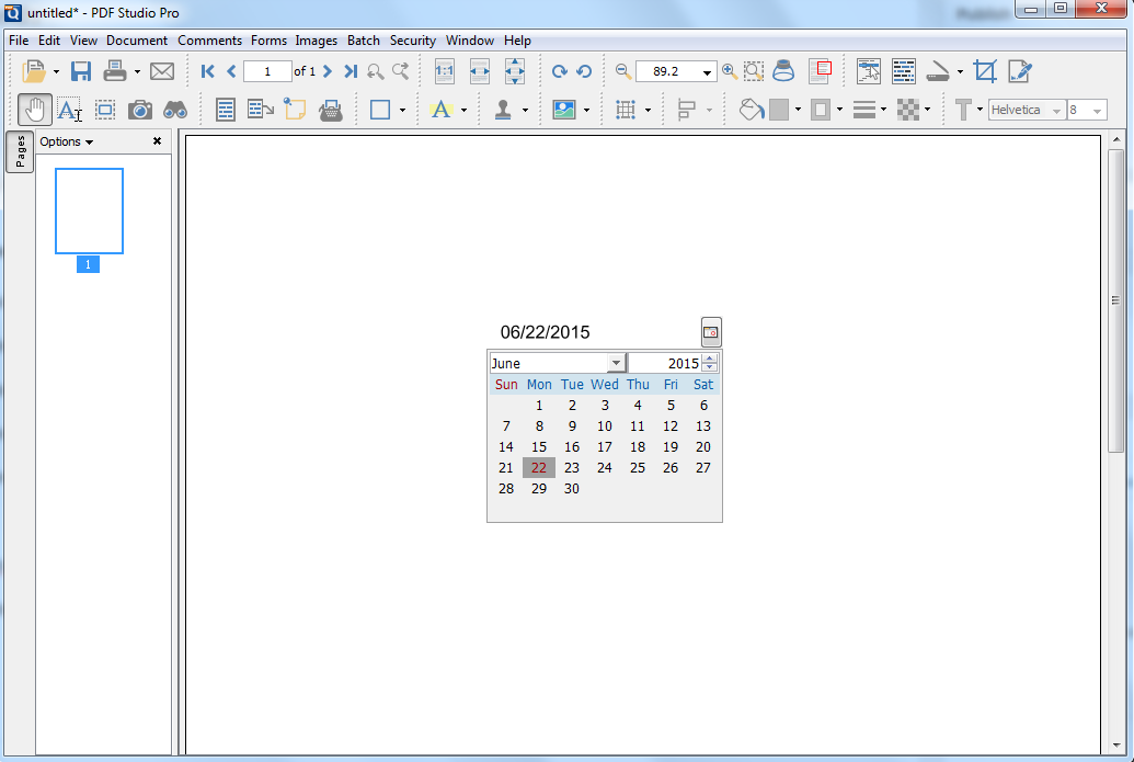 How to create an interactive date field with a date picker in a ...