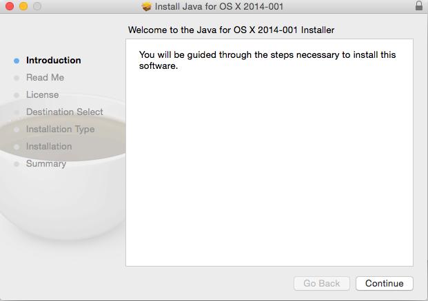 Java 6 Install begin