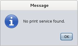 No Print Service Linux