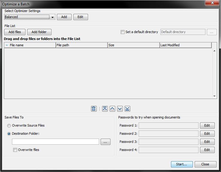 Optimize batch settings