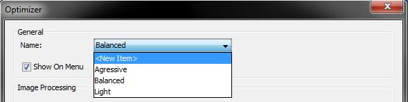 Optimizer profiles