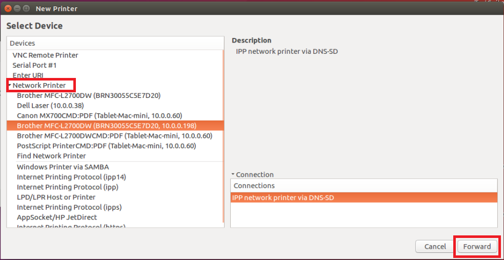 how to install brother printer driver in ubuntu 14.04