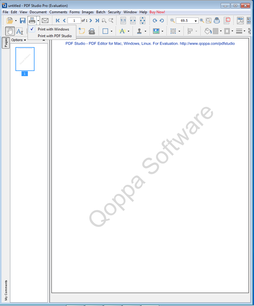 Two print dialogs in PDF Studio and how to change the