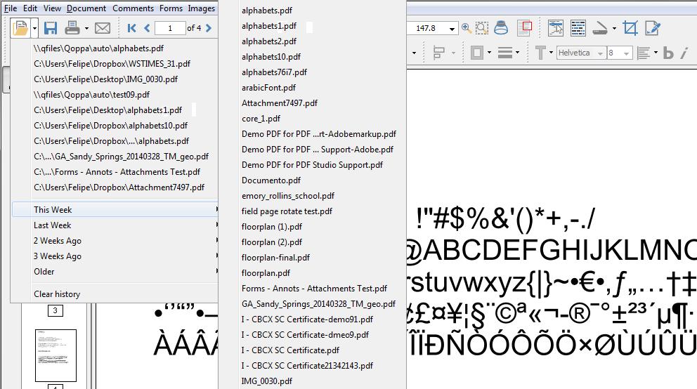 Recent File list2