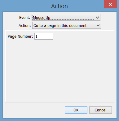 push button actions menu