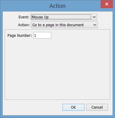 push button actions menu